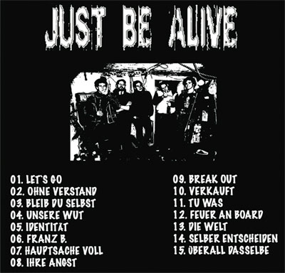 JUST BE ALIVE - CD same