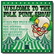 WELCOME TO THE FOLK PUNK SHOW  - LP-Sampler (Lim. Ed./col. Vinyl)